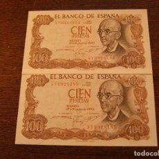 Lotes de Billetes: 2 BILLETES FALLA 1970 CORRELATIVOS. Lote 115376131