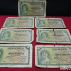 Lotes de Billetes: 7 DE 5 PESETAS LEAN DESCRIPCION. Lote 115883075