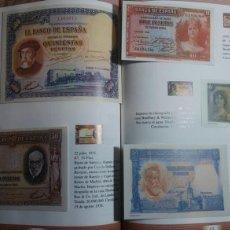Lotes de Billetes: ÁLBUM HISTORIA DE LA PESETA UNA SELECCIÓN HISTÓRICA DE 120 BILLETES DEL BANCO DE ESPAÑA DESDE 1874. Lote 117856279