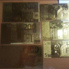Lotes de Billetes: BILLETES DE EUROS 6 UNIDADES GOLD 24K. Lote 143042818