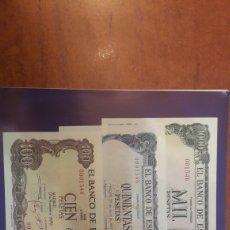 Lotes de Billetes: ESPAÑA MISMA NUMERACION 0001546 PLANCHA. Lote 122257912