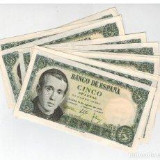 Lotes de Billetes: LOTE DE 10 CORRELATIVOS 5 PTS BALMES 1951. Lote 122703183