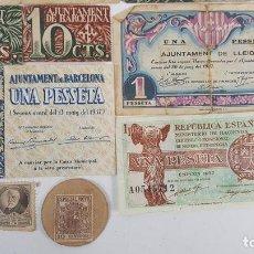 Lotes de Billetes: COLECCIÓN DE 9 BILLETES Y 4 SELLOS. ESPAÑA. 1937/1939. . Lote 123571219