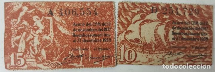 Lotes de Billetes: COLECCIÓN DE 9 BILLETES Y 4 SELLOS. ESPAÑA. 1937/1939. - Foto 4 - 123571219