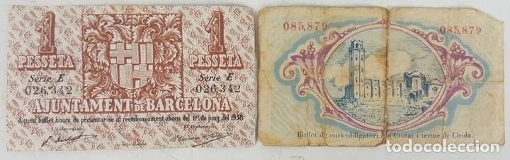 Lotes de Billetes: COLECCIÓN DE 9 BILLETES Y 4 SELLOS. ESPAÑA. 1937/1939. - Foto 7 - 123571219