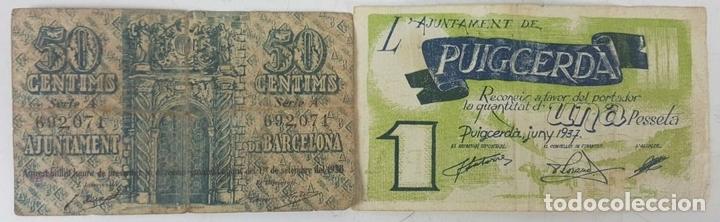Lotes de Billetes: COLECCIÓN DE 9 BILLETES Y 4 SELLOS. ESPAÑA. 1937/1939. - Foto 8 - 123571219
