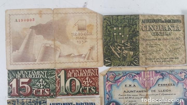 Lotes de Billetes: COLECCIÓN DE 9 BILLETES Y 4 SELLOS. ESPAÑA. 1937/1939. - Foto 12 - 123571219