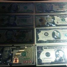 Lotes de Billetes: 8 BILLETES USA DE ORO DESDE 1 DÓLAR A 100 DÓLARES. Lote 143042917