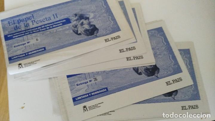EL PAPEL DE LA PESETA II - EL PAIS - LOTE DE ENTREGAS (Numismática - Notafilia - Series y Lotes)