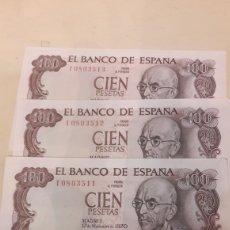 Lotes de Billetes: LOTE 3 BILLETES SIN CIRCULAR 1970 FALLA. Lote 125326360
