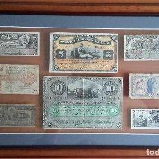 Lotes de Billetes: LOTE BILLETES ENMARCADOS. BANCO ESPAÑOL ISLA DE CUBA 1896-1897. REPUBLICA ESPAÑOLA 1937.. Lote 128497871