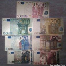 Lotes de Billetes: LOTE BILLETES EURO. COLECCIÓN ORO COMPLETA. Lote 128792699