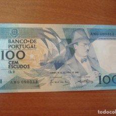 Lotes de Billetes: BILLETE DE PORTUGAL. 100 ESCUDOS. 16-10-1986. FERNANDO PESSOA.SC-UNC. Lote 129615875