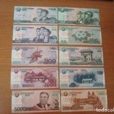 Lotes de Billetes: LOTE 10 BILLETES DE COREA DEL NORTE. SPECIMEN. SC-UNC. Lote 129625091