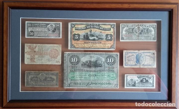 LOTE BILLETES. BANCO ESPAÑOL DE LA ISLA DE CUBA AÑOS 1896-1897 Y DE LA REPÚBLICA ESPAÑOLA AÑO 1937. (Numismática - Notafilia - Series y Lotes)