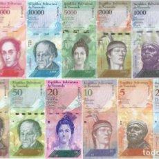 Lotes de Billetes: VENEZUELA SET COMPLETO 2 A 100000 BOLIVARES SIN CIRCULAR. Lote 231227675