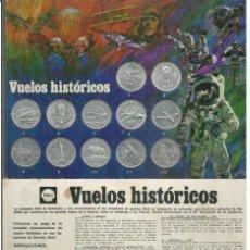 Lotes de Billetes: MONEDAS FICHAS CONMEMORATIVAS VUELOS HISTÓRICOS SHELL 1970 12 UNIDADES FREE SHIPPING. Lote 137128218