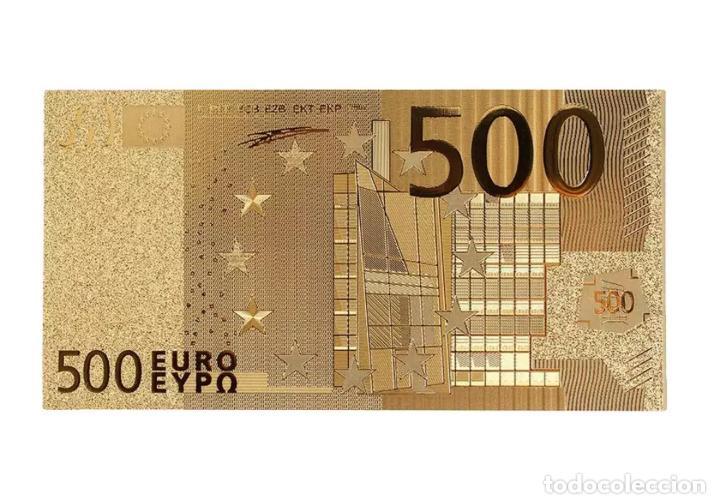 Serien von Banknoten: Lote serie completa de 7 billetes euros lámina dorada - Foto 2 - 147643710