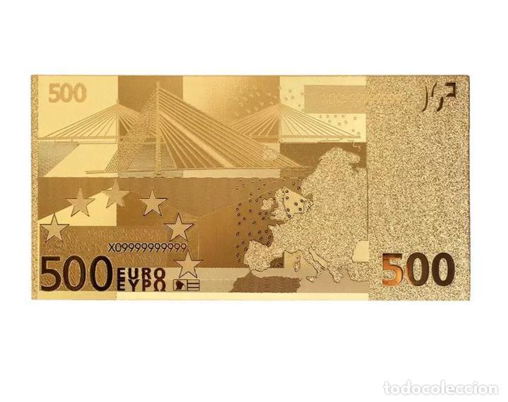 Serien von Banknoten: Lote serie completa de 7 billetes euros lámina dorada - Foto 3 - 147643710