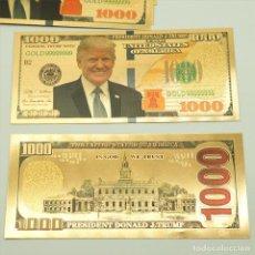 Lotes de Notas: BILLETE CONMEMORATIVO DE 1000 DOLARES - DONALD TUMP Y KIM JONG UN. Lote 143035782