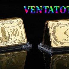 Lotes de Billetes: ESTADOS UNIDOS LINGOTE 500 DOLARES ORO 24 KILATES 34 GRAMOS ( PRESIDENTE WILLIAN JR 1897 A 1901 )Nº7. Lote 199083726