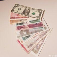 Lotes de Billetes: LOTE 12 BILLETES DEL MUNDO,ALGUNO REPETIDO, Y ALGUNO CIRCULADO, MIREN LAS FOTOGRAFÍAS!. Lote 151625752