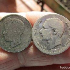 Lotes de Billetes: LOTE DE DOS PESETAS DE PLATA. Lote 152160630