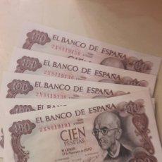 Lotes de Billetes: ESPAÑA 50 BILLETES CORRELATIVO SERIE 2X84191001/2X8419150 100 PESETAS FALLA 1970 17 NOVIEMBRE FNMT. Lote 153452924