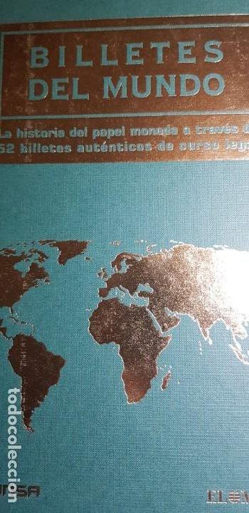 52 BILLETES ORIGINALES PLANCHA-COLECCIÓN COMPLETA -AFINSA-EL MUNDO 'BILLETES DEL MUNDO'. (Numismática - Notafilia - Series y Lotes)