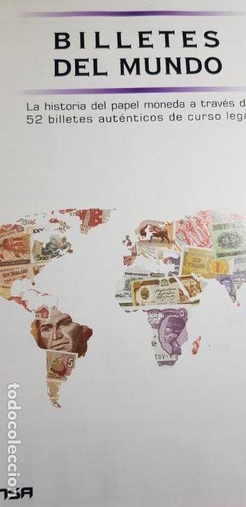 Lotes de Billetes: 52 BILLETES ORIGINALES PLANCHA-COLECCIÓN COMPLETA -AFINSA-EL MUNDO BILLETES DEL MUNDO. - Foto 2 - 153867426