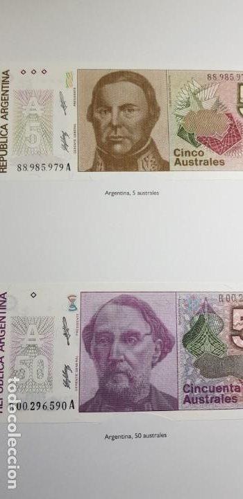 Lotes de Billetes: 52 BILLETES ORIGINALES PLANCHA-COLECCIÓN COMPLETA -AFINSA-EL MUNDO BILLETES DEL MUNDO. - Foto 4 - 153867426