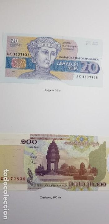 Lotes de Billetes: 52 BILLETES ORIGINALES PLANCHA-COLECCIÓN COMPLETA -AFINSA-EL MUNDO BILLETES DEL MUNDO. - Foto 8 - 153867426