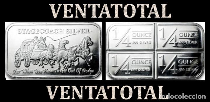 LINGOTE VINTAGE DE PLATA PESO 50 GRA ( HOMBRES MONTADOS EN DILIGECIA TIRADA POR CABALLOS ) Nº20 (Numismática - Notafilia - Series y Lotes)