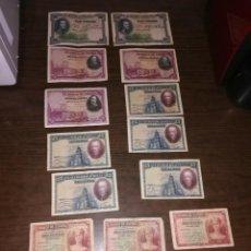 Lotes de Billetes: LOTE DE 16 BILLETES ESPAÑOLES - CIRCULADOS - PRECIO PARA REVENDEDORES. Lote 161877258