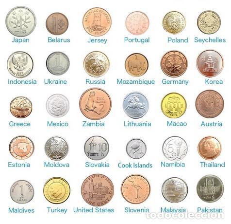 Lotes de Billetes: ¡Conjunto Original 30 monedas de 30 países diferentes con hoja gratis! Real genuino monedas leer - Foto 4 - 165079550
