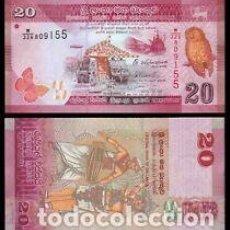 Lotes de Billetes: SRI LANKA 20 RUPIAS 2015 P-123B UNC. Lote 203282428