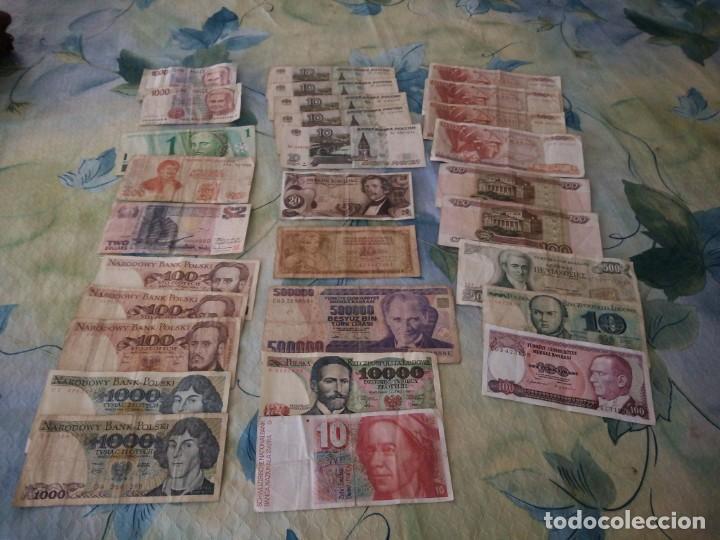 Lotes de Billetes: Lote de 29 billetes extranjeros, a clasificar,diferentes países,años y valores. inversión. - Foto 3 - 172109230