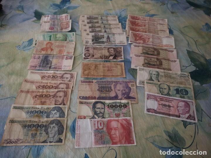 Lotes de Billetes: Lote de 29 billetes extranjeros, a clasificar,diferentes países,años y valores. inversión. - Foto 4 - 172109230
