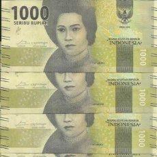 Lotes de Billetes: LOTE DE 5 BILLETES INDONESIA 1000 RUPIAS 2016. Lote 173816688