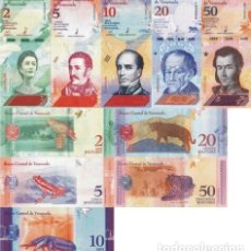Lotes de Billetes: VENEZUELA - LOT LOTTO 5 BANCONOTE 2/5/10/20/50 BOLIVARES SOBERANO 2018 FDS - UNC. Lote 173816815
