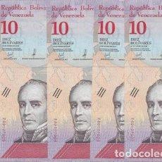 Lotes de Billetes: VENEZUELA LOTE DE 5 BILLETES DE 10 BOLIVARES SOBERANOS 2018 UNC. Lote 173816952