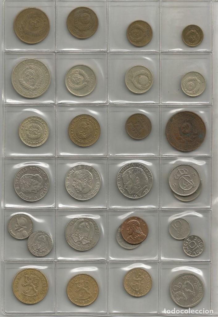 LOTE DE 28 MONEDAS DE EUROPA Y AMÉRICA (Numismática - Notafilia - Series y Lotes)