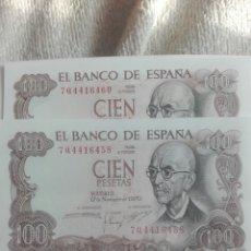 Lotes de Billetes: LOTE DOS BILLETES PLANCHA CASI CORRELATIVOS. Lote 178593142