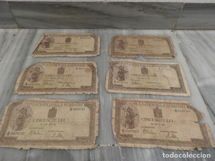 Lotes de Billetes: LOTE 11 BILLETES ANTIGUOS DE RUMANIA - 1940 - 10.000 LEI - 1000 LEI - Foto 2 - 178962595