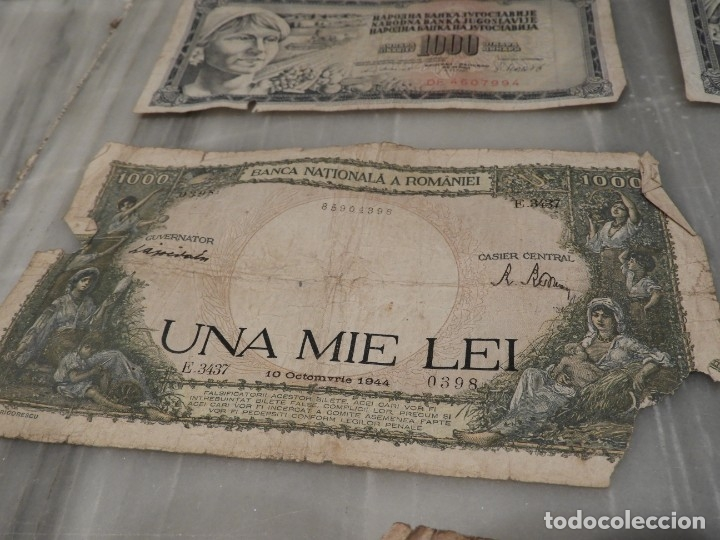 Lotes de Billetes: LOTE 11 BILLETES ANTIGUOS DE RUMANIA - 1940 - 10.000 LEI - 1000 LEI - Foto 6 - 178962595