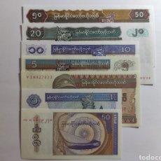 Lotes de Billetes: LOTE DE BILLETES MYANMAR. Lote 181807218