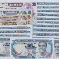 Lotes de Billetes: LOTE DE BILLETES ZAMBIA. Lote 182000888