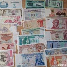 Lotes de Billetes: LOTE DE 21 BILLETES EXTRANJEROS, VARIOS PAÍSES SIN CIRCULAR, SE REGALA UNO DE ITALIA DEL AÑO 76 . Lote 182845140