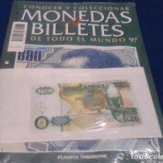 Lotti di Banconote: FASCICULO Nº 97 ( ZAMBIA ) MONEDAS Y BILLETES DE TODO EL MUNDO PLANETA DE AGOSTINI. Lote 184883377