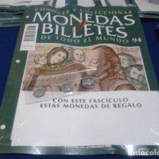 Lotti di Banconote: FASCICULO Nº 94 ( ? ) MONEDAS Y BILLETES DE TODO EL MUNDO PLANETA DE AGOSTINI. Lote 184885150